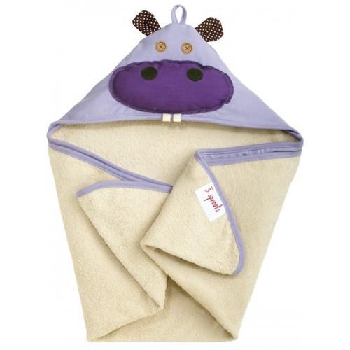 Детское полотенце с капюшоном 3 Sprouts Бегемотик