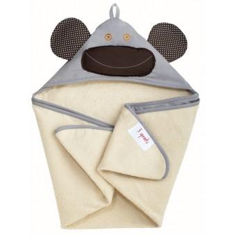 Детское полотенце с капюшоном 3 Sprouts Мартышка