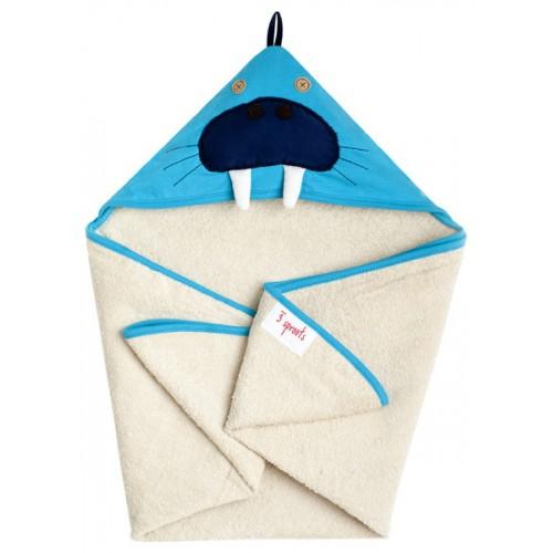 Детское полотенце с капюшоном 3 Sprouts Морж