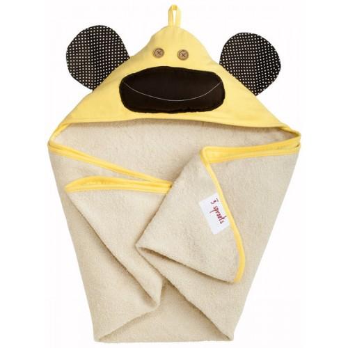 Детское полотенце с капюшоном 3 Sprouts Обезьянка
