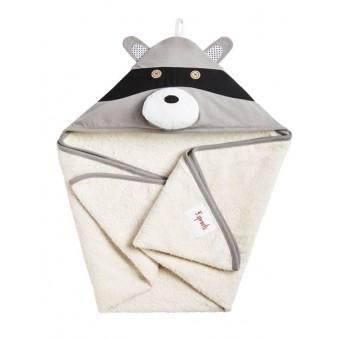 Детское полотенце с капюшоном 3 Sprouts Серый енот