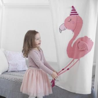 "Плед Apero ""Фламинго"" 60х120 белый"