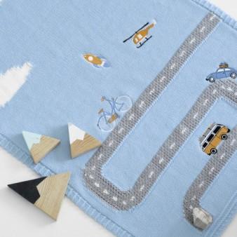 """Плед Apero """"Little Journey"""" 60х90, светло-голубой"""