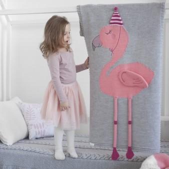 """Плед Apero """"Фламинго"""" 60х120 серый"""