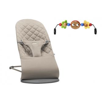 Кресло-шезлонг Babybjorn Bliss с дугой с игрушкой