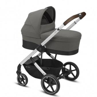 Детская коляска Cybex Balios S Lux Silver 2 в 1 с дождевиком