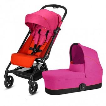 Детская коляска Cybex Eezy S Plus 2 в 1 цвет Fancy Pink