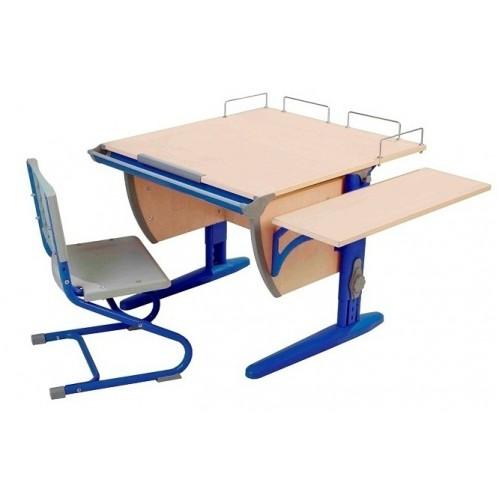 Дэми Стол СУТ 14-02 с задней и боковой приставкой + стул СУТ-01