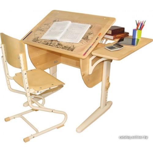 Дэми Стол СУТ 14-12 с задней и боковой приставкой + стул