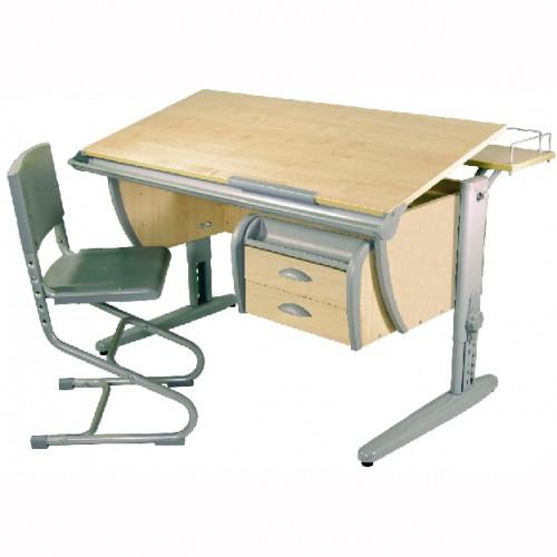 Стол СУТ 15-04 (с навесной тумбой) со стулом СУТ -01 ДЭМИ