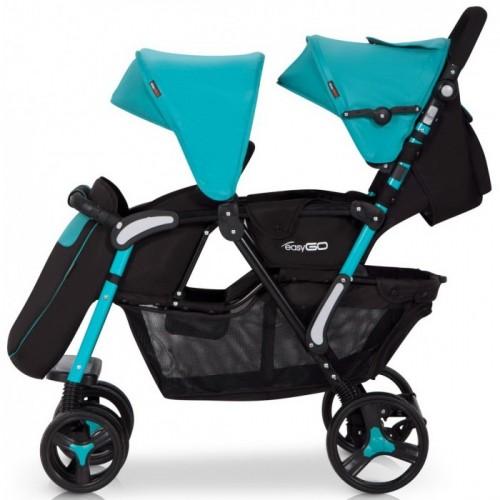 Прогулочная коляска для двойни EasyGo Fusion