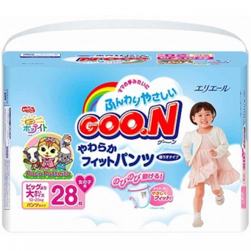 Подгузники-трусики GooN BIG для девочек (13-25 кг) 28 шт.
