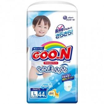 Подгузники-трусики GooN L для мальчиков (9-14 кг) 44 шт.