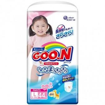 Подгузники-трусики GooN L для девочек (9-14 кг) 44 шт.
