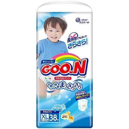 Подгузники-трусики GooN BIG (XL) для мальчиков (12-20 кг) 40 (38) шт.