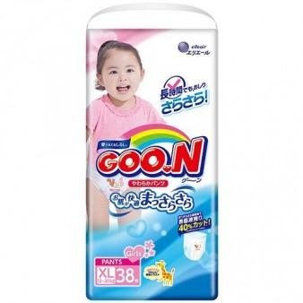 Подгузники-трусики GooN BIG для девочек (12-20 кг) 38 шт.
