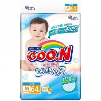 Подгузники GooN M (6-11 кг) 64 шт.