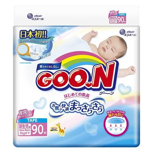 Подгузники GooN NB (0-5 кг) 90 шт.