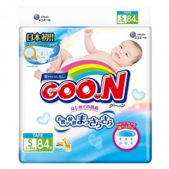Подгузники GooN S (4-8 кг) 84 шт.
