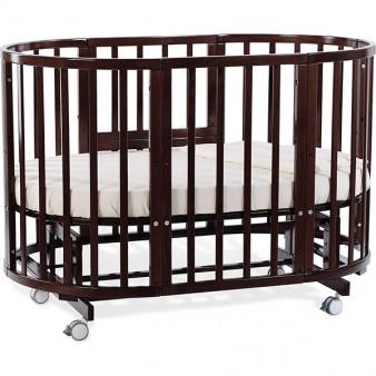 Детская кроватка Nuovita Nido Magia 5 в 1 Noce Scuro с маятником