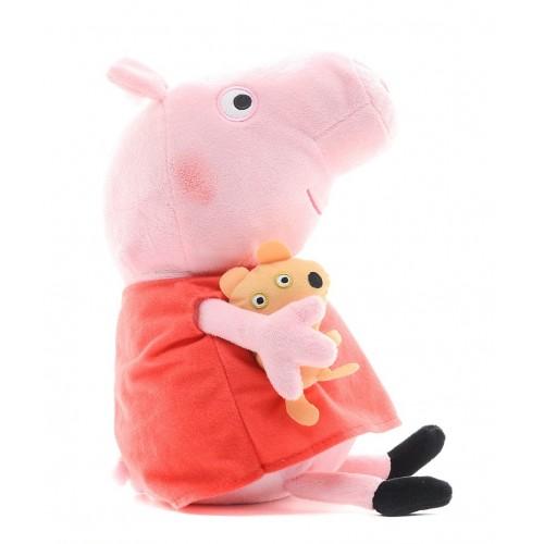 """Мягкая игрушка Свинка Пеппа-Peppa Pig """"Пеппа с игрушкой"""" 40см"""