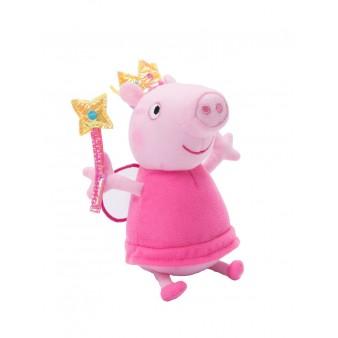 Мягкая игрушка Свинка Пеппа-Peppa Pig «Пеппа фея с палочкой» 20см