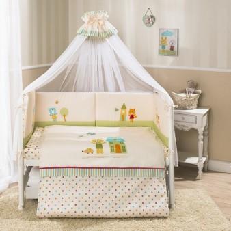 Комплект детского постельного белья Perina «Глория» Happy Days, 6 предметов