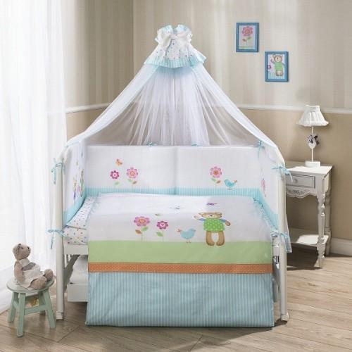 Комплект детского постельного белья Perina «Глория» Hello, 7 предметов