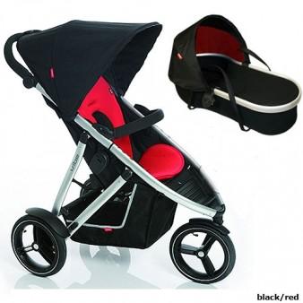 Детская коляска для новорожденного Phil and Teds Vibe 2, 2 в 1