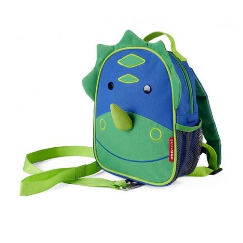 Детский рюкзак с поводком Skip Hop Zoo Let DINO