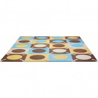 Игровой детский коврик-пазл Skip*Hop Playspot Blue Gold, США