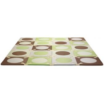 Игровой детский коврик-пазл Skip*Hop Playspot Green Brown, США