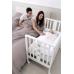 Детская приставная кроватка Erbesi Mini Stellina с матрасом