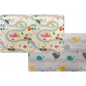 Портативный двусторонний коврик Parklon Pure Soft Дороги/Киты 190x130
