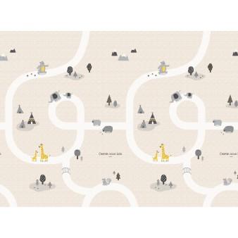 Портативный складной коврик Parklon Portable «Лесные тропинки» 140x200