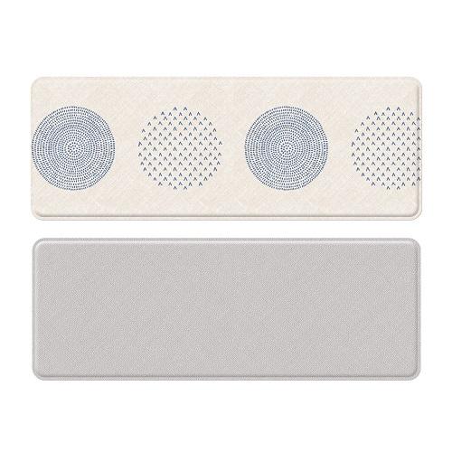 Двухсторонний коврик Parklon Mini «Голубые кружки» (120x44 см)